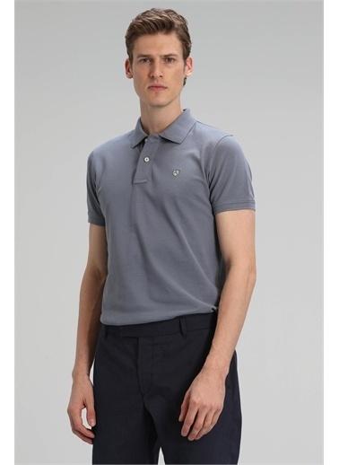 Lufian Laon Spor Polo T- Shirt Koyu Pembe Gri